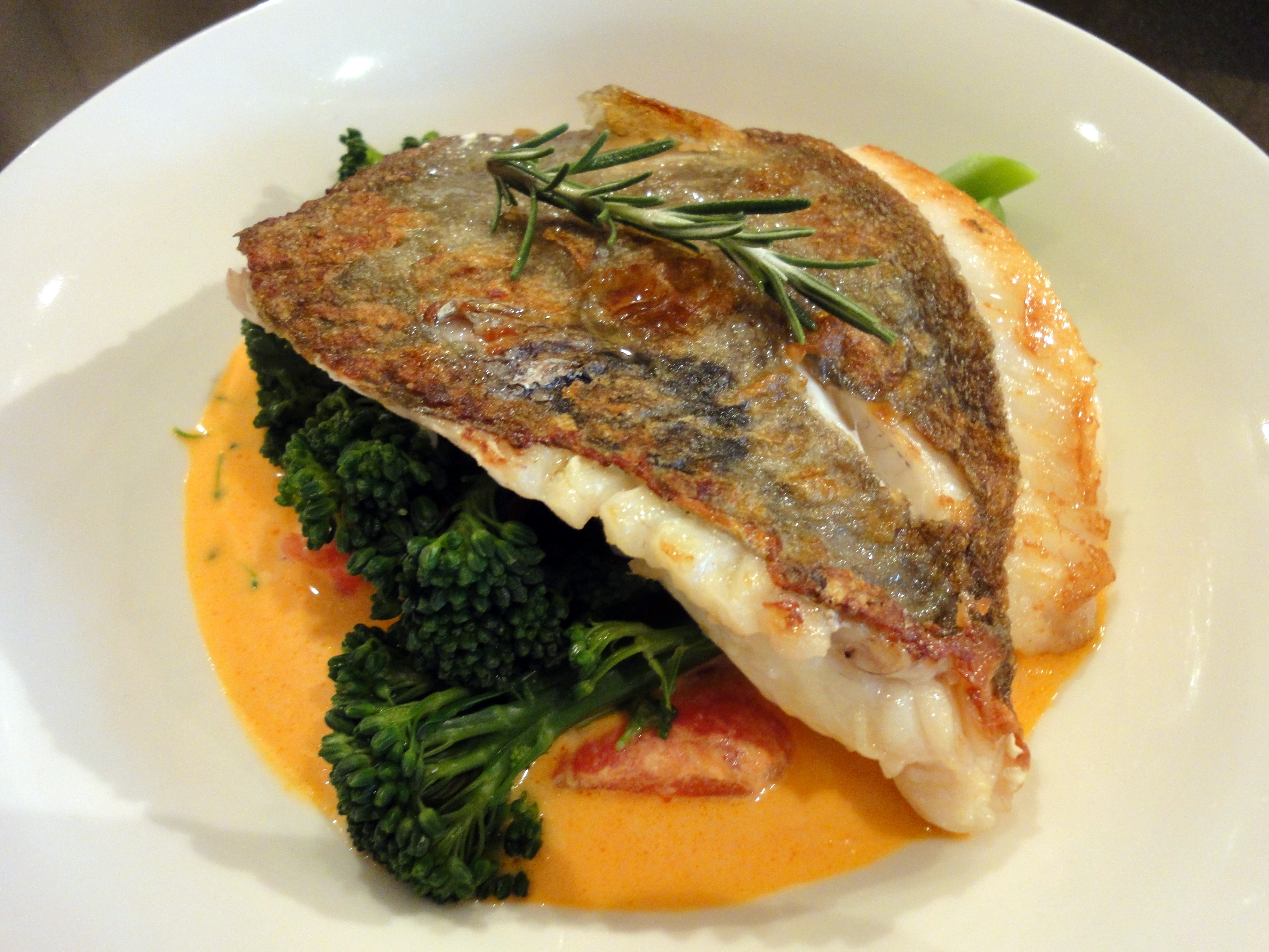 john dory in goat cheese tomato rosemary sauce