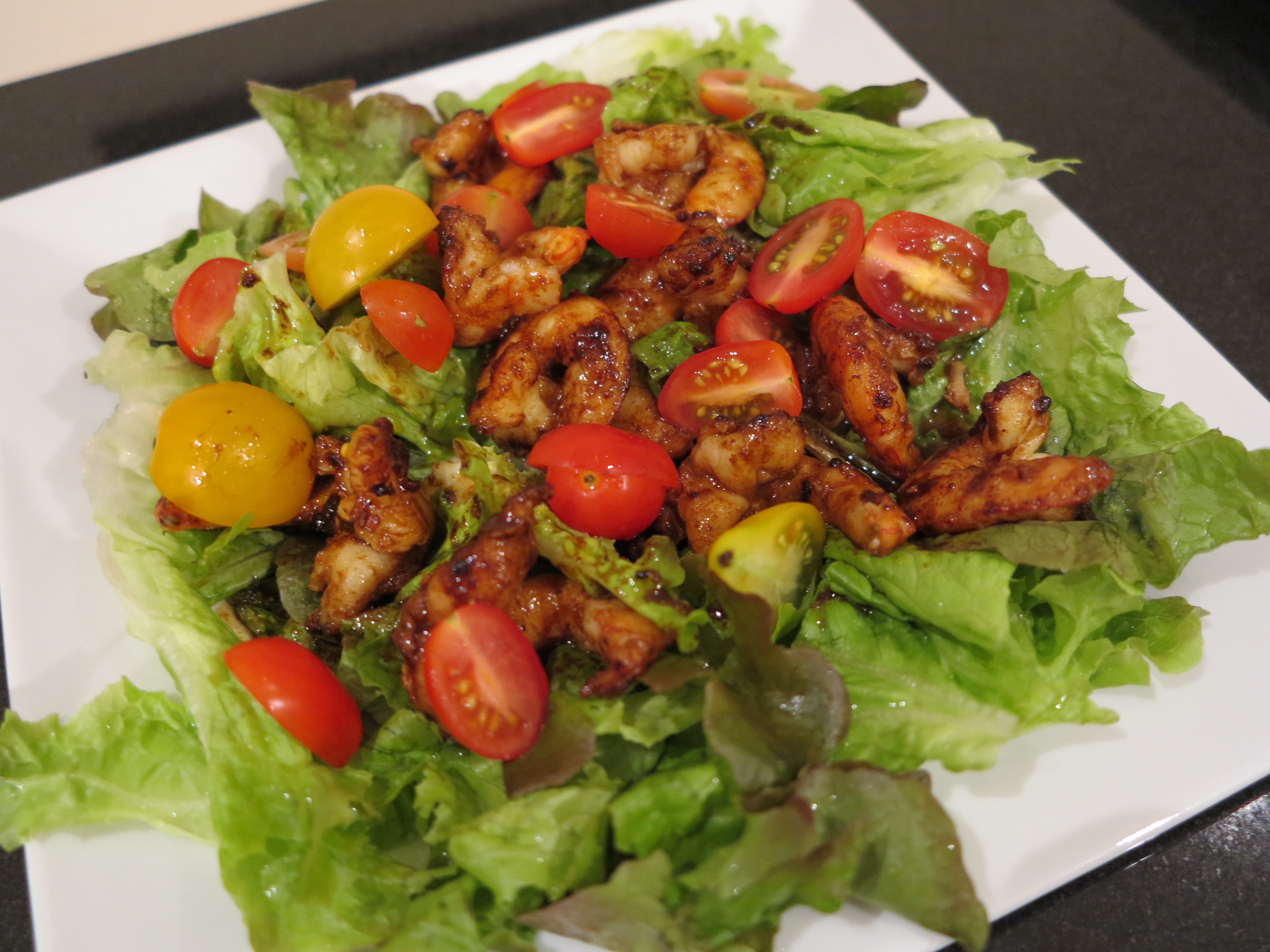 Prawn Salad In Spicy Balsamic Dressing Frenchfoodiedownunder