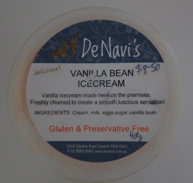 DeNavi's Vanilla Ice Cream
