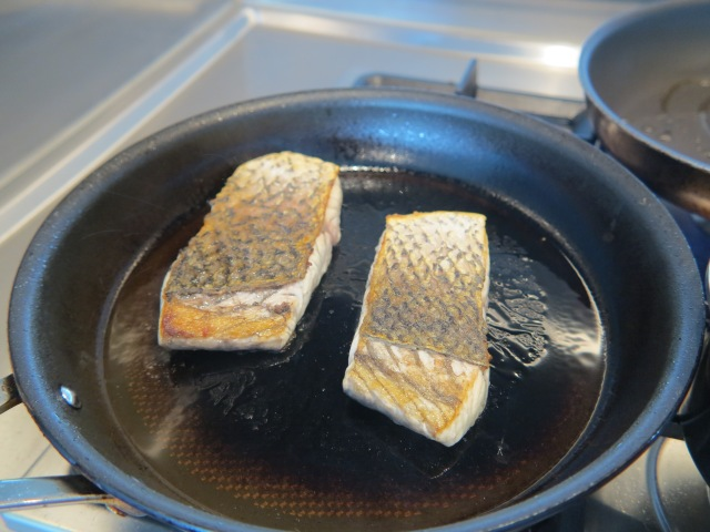 Step 3.a - Pan-fry the fish fillets